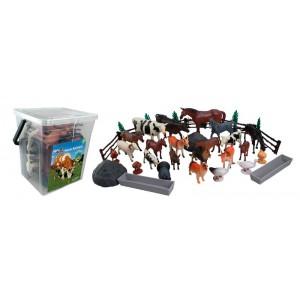 Cubo Cuadrado 45 Piezas Animales Granja