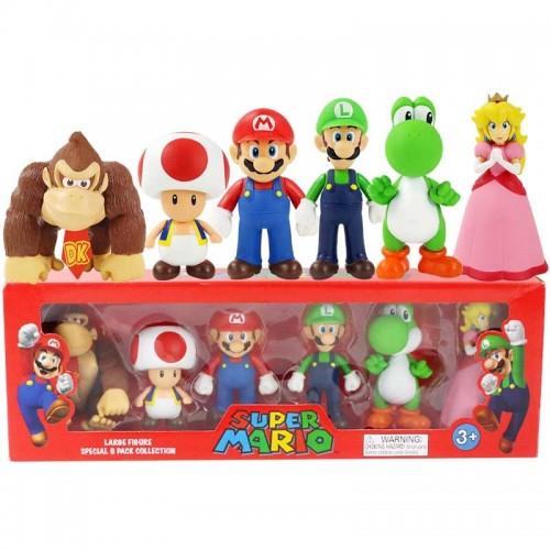 Super Mario Pack 6 Figuras