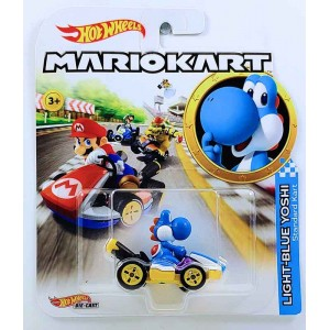 Hot Wheels Mario Kart Yoshi Blue