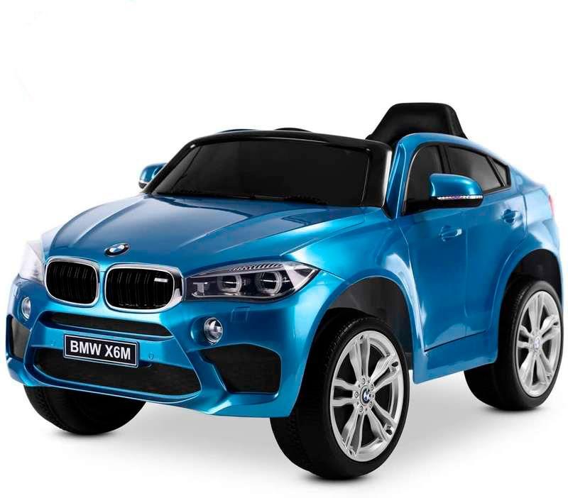 BMW X6M Azul Eléctrico 12V para Niños