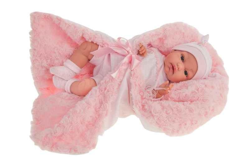 Muñecas Antonio Juan Recién Nacido Baby Toneta Arrullo Rosa