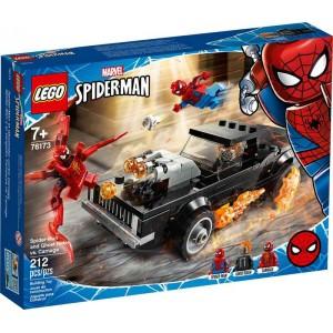 Lego Marvel Spiderman y el Motorista Fantasma vs Carnage